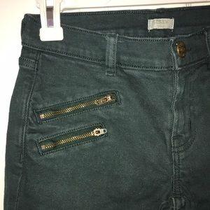 Dark Green J. Crew stretch jeans